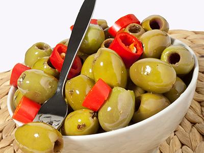 Olive verdi denocciolate piccanti al limone